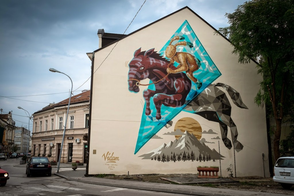 """Il murale di Vidam a Prijedor, vincitore della seconda edizione del Premio """"Paola de Manincor"""""""