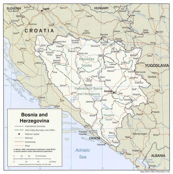 cartina bosnia Progetto Prijedor  17 anni di cooperazione comunitaria