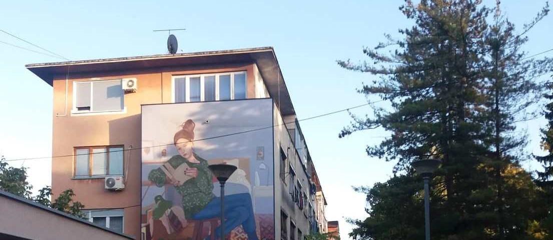 """""""Prijedor grad murala"""": inaugurazione del murale vincitore 2019"""