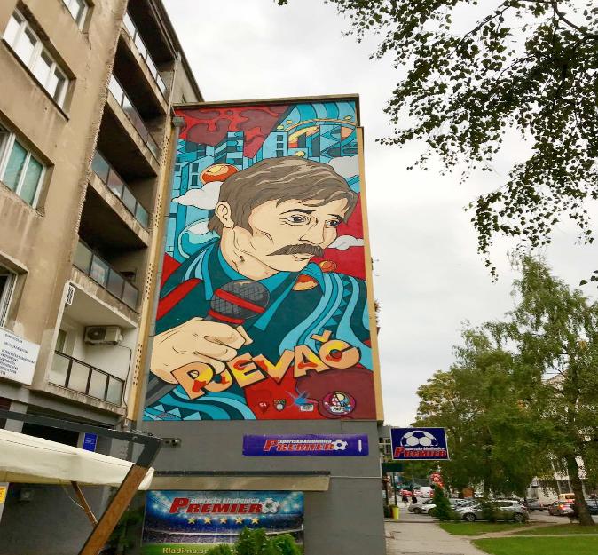 Archivio privato scatto di agosto del 2019 - Murales inaugurato a giugno di quest'anno a Sarajevo via  Radiceva ulica