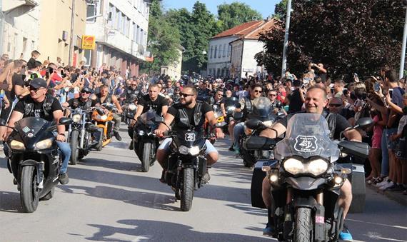 """Vukovi - I """"Lupi"""" di Livno durante una manifestazione"""