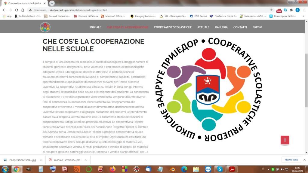 Sito Cooperazione nelle scuole