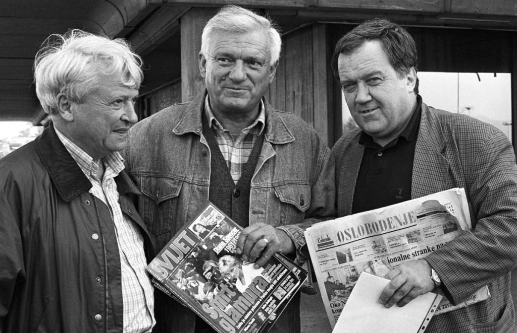 Divjak con Matvejevic e Dizdarevic, foto di Mario Boccia
